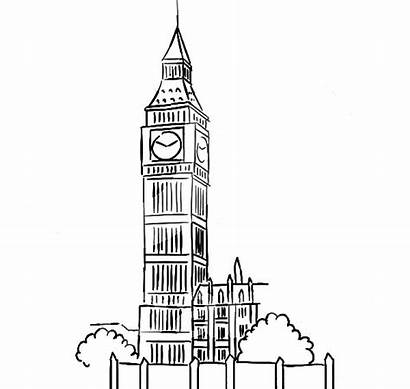 Ben Coloring Tower Clock Pages Sketched Sketch