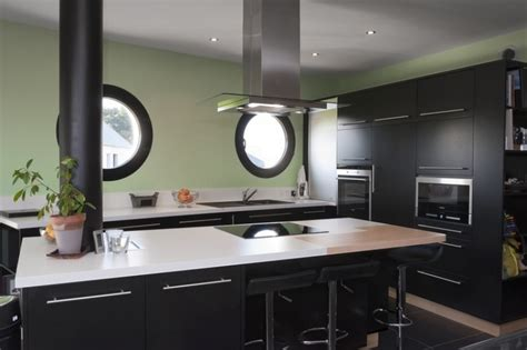 organisation cuisine cuisine noir laquee