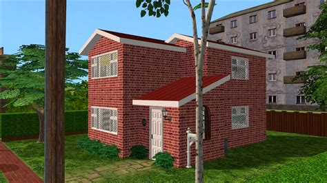 Sims 2 Creations By Tara Red Brick House