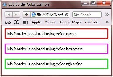 css border color