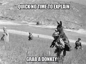 no time to explain grab a donkey   Heroic   Pinterest