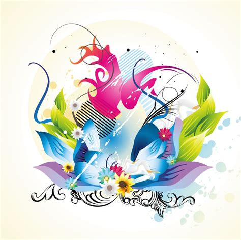 free graphic design floral design vector graphic free vector graphics all