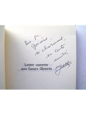 Paul Guth  Lettre Ouverte Aux Futurs Illétrés