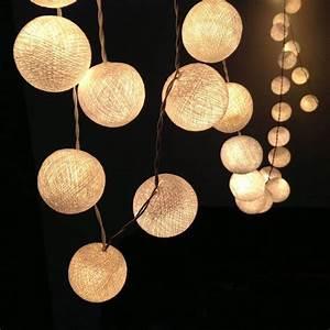 Cotton Ball Lights : led cotton ball fairy light 3m aa battery powered ~ Orissabook.com Haus und Dekorationen