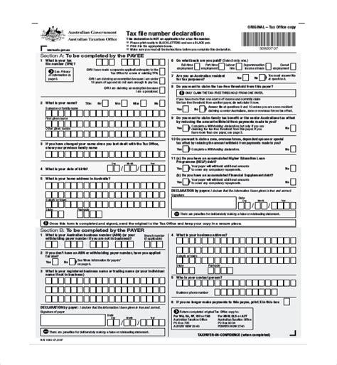 ato tfn application form tax file number declaration form hoss roshana co