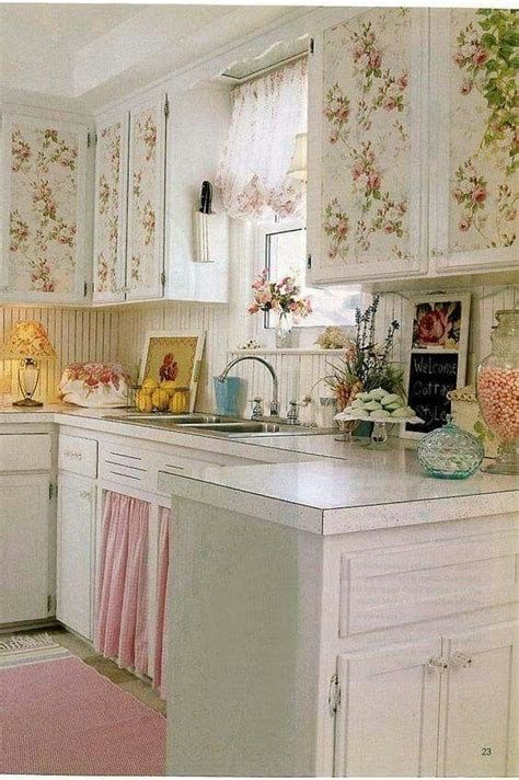 green and pink kitchen pink and green kitchen country shabby chic cottage 3959