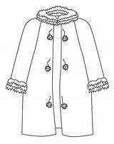 Colorear Coloring Abrigo Invierno Abbigliamento Clothing Abrigos Disegni Dibujos Colorare Colorir Desenhos Ropa Printable Dibujar Colouring Roupas Indumenti Stampa Pintar sketch template