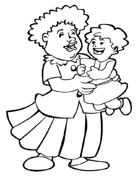 Kleurplaat Opa En Oma Met Baby by Opa En Oma Kleurplaten Animaatjes Nl