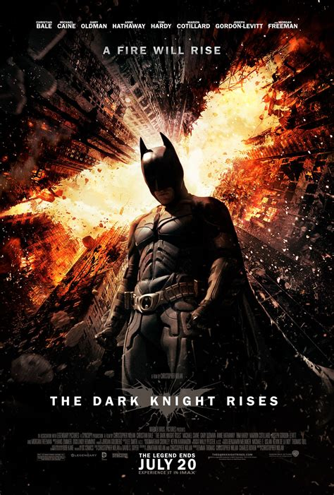 dark knight rises theatrical poster fires