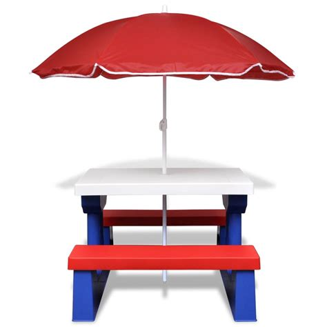 wooden picnic table with umbrella childs wooden picnic table with umbrella decorative