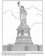 Liberty Statue Coloring Pages Printable York Skyline Colouring Island Template Ellis Simple Colored Inkspired Musings Sculpture Traditional Historical Statues Roses sketch template