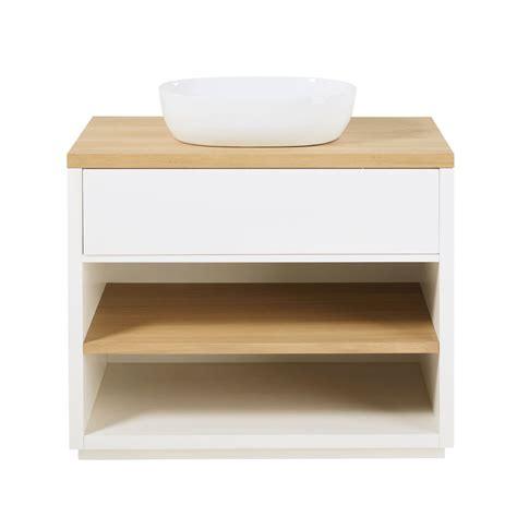 meuble tiroir blanc meuble vasque 1 tiroir blanc austral maisons du monde
