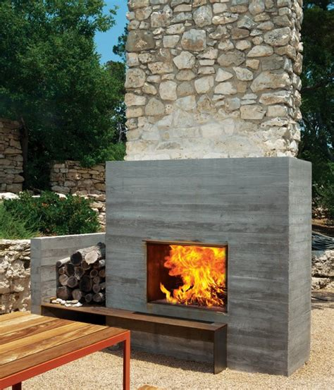 outside fireplace designs 12 amazing modern outdoor fireplaces design milk