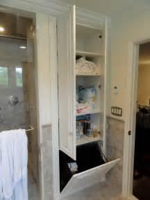 Hamper Cabinet Tilt Out by Linen Closets Bathroom Cabinets Traditional Bathroom