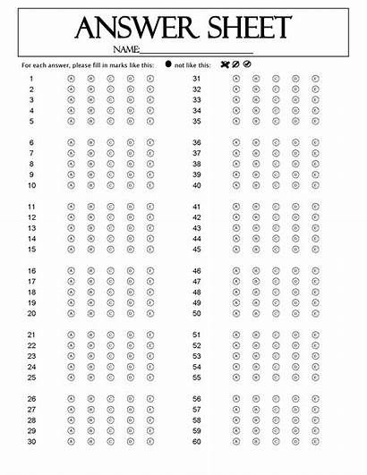 Sheet Answer Question Sheets Omr Examination Test