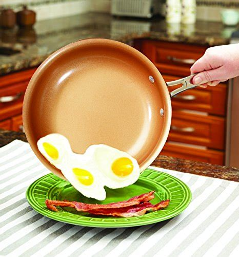 red copper ceramic  stick  piece cookware set