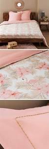 Parure De Lit Flamant Rose : trends diy decor ideas parure de lit en coton imprim flamants roses et palmiers ~ Teatrodelosmanantiales.com Idées de Décoration