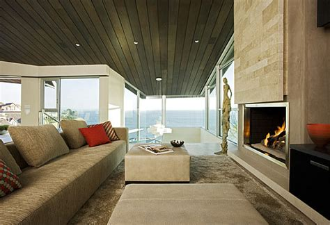 stone fireplaces add warmth  style   modern home