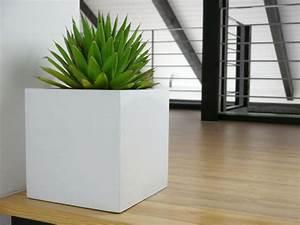 Pflanzkübel Weiß Rattan : pflanzk bel cubo aus fiberglas in hochglanz wei 30x30x30 cm bei east west trading ~ Indierocktalk.com Haus und Dekorationen