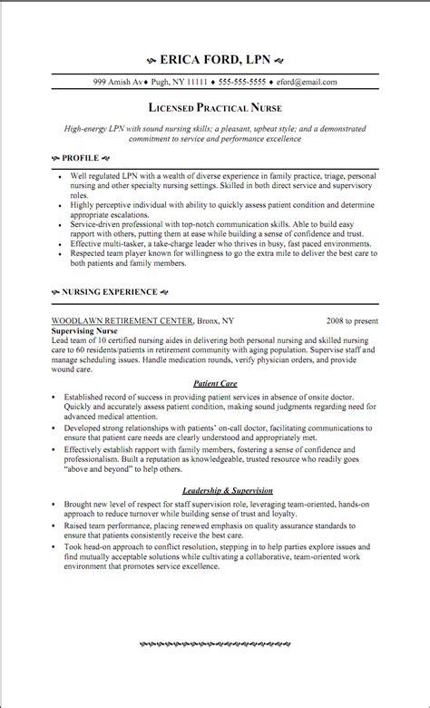 sample resume licensed practical nurse lpn graduate resume examples