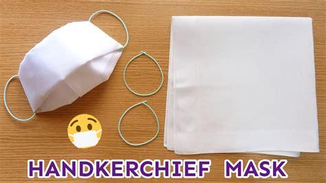 handkerchief face mask  sew  tools super easy