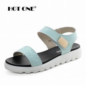 Women Flat platform sandals 2017 Brand Women Leather ...