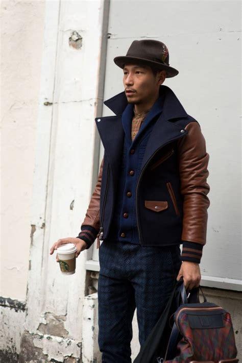 Contrast Leather Sleeve Jacket Sexy Stylish Men