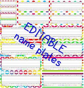 editable name plates and worksheets are here learning With nameplate template free