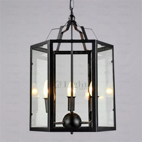 unique industrial cage light fixture glass shade