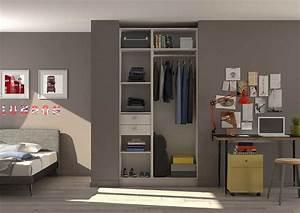 Chambre Dressing : am nagement d 39 un placard d 39 une chambre d 39 adolescent en ~ Voncanada.com Idées de Décoration
