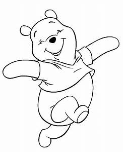 Winnie the Pooh drawing in black and white ~ Child Coloring