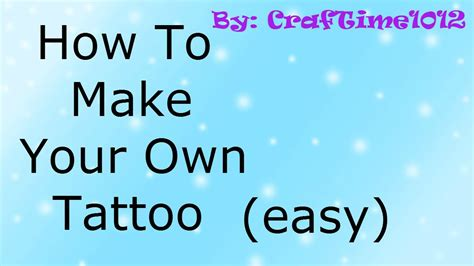 how to make your own lava l how to make your own tattoo easy youtube