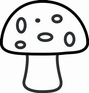 Black And White Mushroom Clip Art At Vector