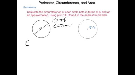 Geometry 18 Perimeter, Circumference And Area Youtube