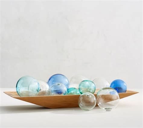 recycled glass balls recycled glass balls pottery barn