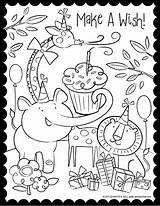 Coloring Birthday Pages Happy Cute Super sketch template