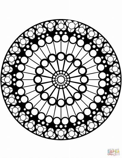 Notre Dame Window Rose Coloring Pages Stained