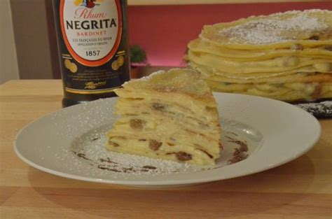 recette gateau de crepes rhum raisin en video