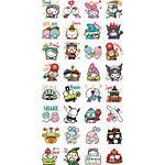 Hello Sanrio Kawaii Stickers Kitty Pochacco Twin