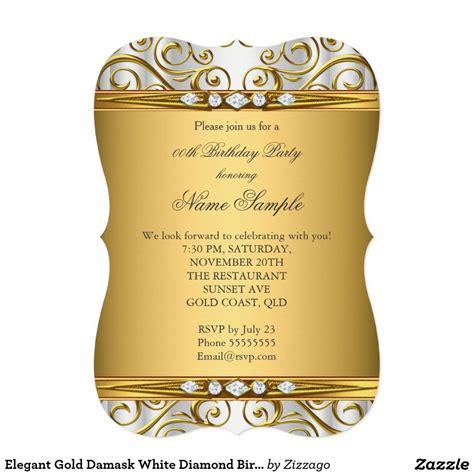 elegant gold damask white diamond birthday party