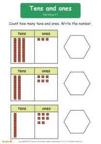 counting tens and ones worksheets tens and ones worksheet for mocomi