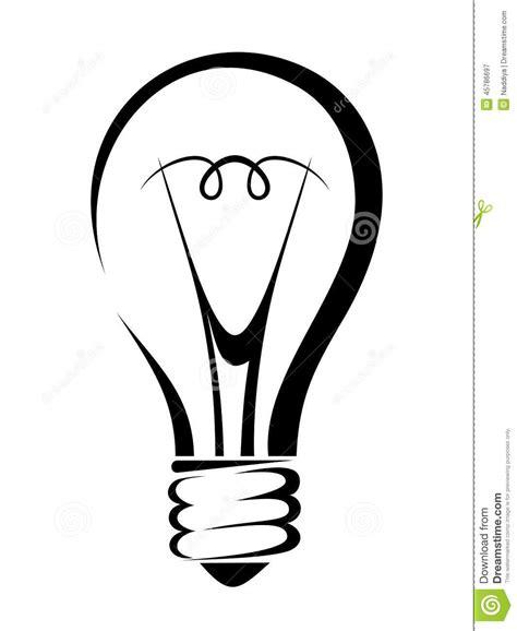 Ge Light Bulbs by Het Concept Van Het Idee Vectorillustratie Vector Zwart