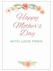 Free Mother's Day Printables - Baby Hints and Tips