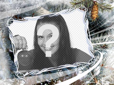 cornice di natale per foto cornice per foto con motivi invernali e di natale fondo