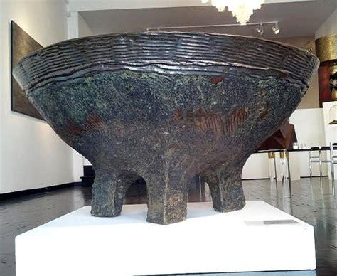 rare monumental paul chaleff cauldron  sale  stdibs