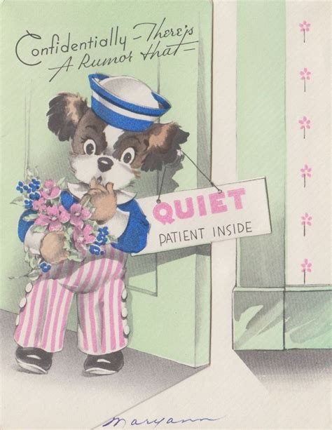 vintage greeting card cute puppy dog    sailor