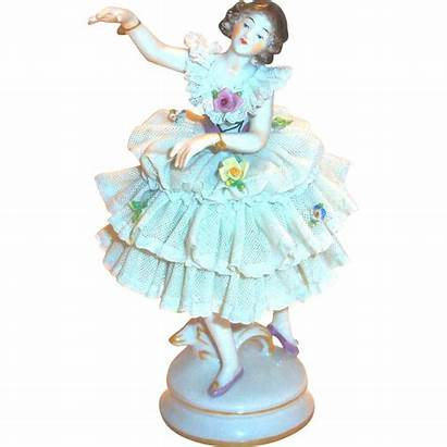 Ballerina Figurine Dresden Porcelain Lace Antique Rubylane