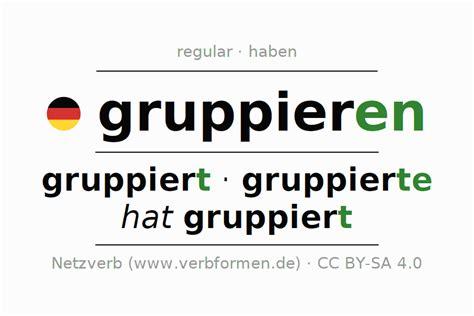 conjugation verb pdf word rules examples verbformen