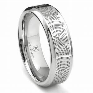 cobalt xf chrome laser engraved wedding band ring w With laser engraved wedding rings