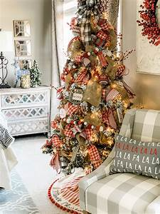 flocked, christmas, tree, decor